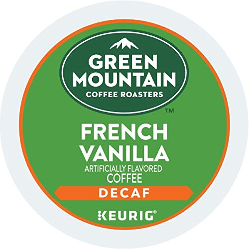 Green Mountain Coffee, French Vanilla Decaf, Single-Serve Keurig K-Cup Pods, Light Roast, 48 Count (2 Boxes of 24 Pods)