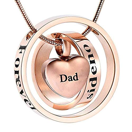 necklace Ladies fashion JJ001 Customized Engraving Dad/Mom/Son Forever In My Heart Urn But No Longer By My Side Memorial Jewelry For Ashes-blank box_funnel Hoisting