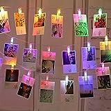 Luci Clip Foto, massway 6M 40 LED Striscia Foto Clip Colorato Calda Luci LED con Foto Mollette per Decorazione Camere Festa di Matrimonio Compleanno