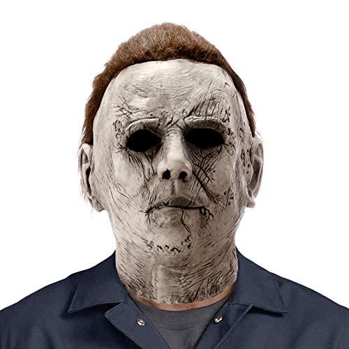 AQKILO - Máscara de látex de Michael Myers para Halloween, carnaval, fiesta de disfraces
