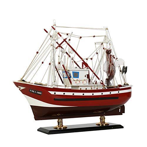 MYRCLMY Modelo De Barco De Nave, Kits De Construcción Modelo De Nave DIY Juguetes De Regalo, Mejor Regalo para Su Novio O Novia En El Cumpleaños, Aniversario, Día De San Valentín,Rojo