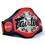 Fairtex BPV3 Extra Lightweight Belly Pad Muay Thai Boxing Trainers Protective Guard Thai Boxing MMA Kickboxing Gear (Red, As Foto)