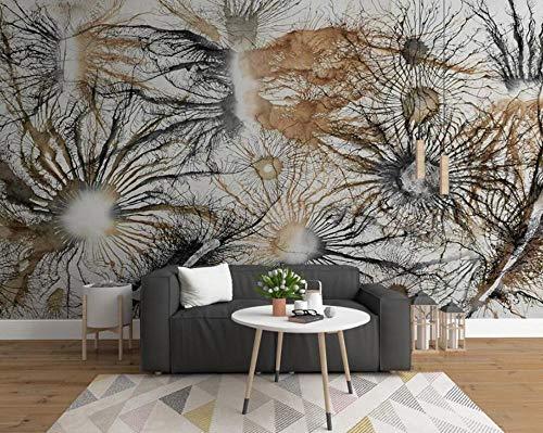 3D vliesbehang fotovliesbehang premium fotobehang behang Europese kunst verlaten takken olieverfschilderij tv-achtergrond wand hoofddecoratie wandschilderij 3D wallpaper 400*280 400 x 280 cm.