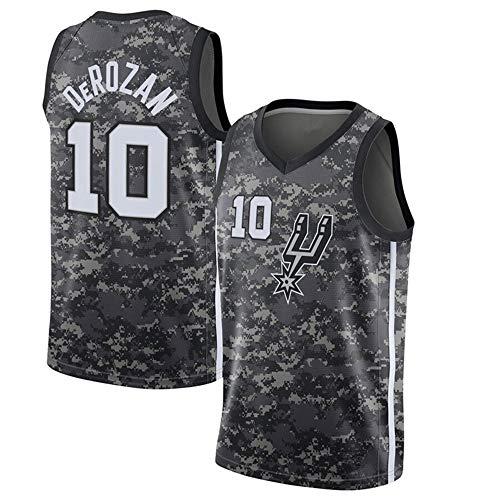 Los Hombres De Camiseta De La NBA San Antonio Spurs Demar DeRozan 10 Respirable Cómodo del Chaleco Grey-L