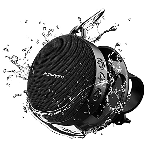 ILUMINPRO Portable Bluetooth Speaker for Bike, IPX7 Waterproof, Shockproof for Outdoor Riding, Bluetooth 5.0 HD Sound with Aux, 10H Playtime Detachable Bike Mount, Built-in Mic and TF Card Support