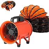 VEVOR Ventilador Industrial 200 mm, Extractor Aire Industrial, 220 V, Ventilador de Admisión Extractor de Aire, Anillos de...