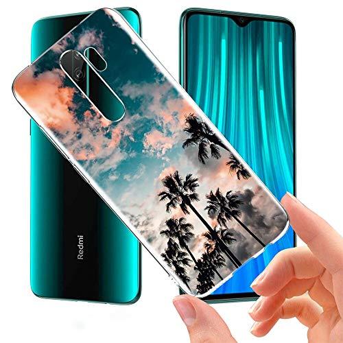 ZhuoFan Funda Xiaomi Redmi Note 8 Pro, Cárcasa Silicona Transparente con Dibujos Diseño Suave TPU Antigolpes de Protector Piel Case Cover Fundas para Movil Xiaomi Red mi Note 8Pro, Árbol de Co