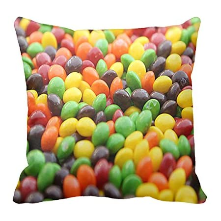 Amazon Com Skittles Colored Throw Pillow Covers Cushion Case Decorative Cushion Bed Home Kitchen