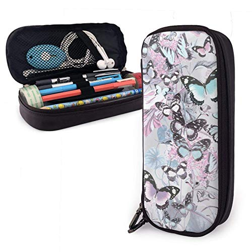 Estuche para lápices Colores Mariposa Organizador de papelería de gran capacidad Almacenamiento Bolsa de maquillaje Bolsa Soporte para caja con cremallera