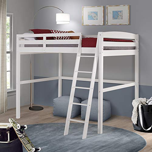 Camaflexi Concord Full Size High Loft Bed White