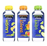 hellowater Fiber Infused Water + Prebiotics, Variety Pack, 16 fl oz, 4 Each of Orange Mango, Cucumber Lime, and Lemon Lime, Pack of 12