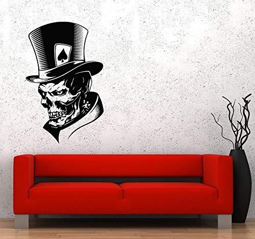 YIYEBAOFU tijger muur kunst Stickers Playroomsclown Skeleton schedel kaart piekangst monster hoed Vinyl Sticker spel liefhebbers tiener jongen slaapkamer huis de