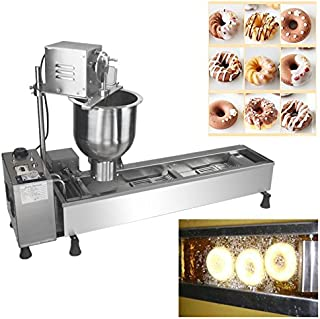 TECHTONGDA 220V Commercial Manual Breakwater Donut Fryer Maker Making Machine with 3 Models 3000W