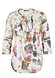 s.Oliver Damen Florale Bluse mit Spitze White AOP 34