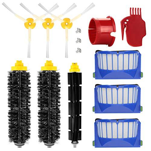 ENERGUP Kit Accessoires Remplacement pour Roomba 600 650 620 651 621 615 616 605 Filtre de pièces de rechange