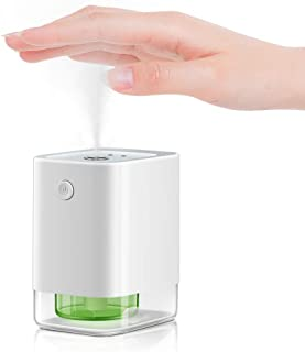 JUYOO Alcohol Dispenser Automatic Infrared Sensor, Premium Touchless Mini Sanitizer Spray Bottles Travel, Upgraded Leakproof, 360-Degrees Spraying, Ultra Fine Mist, 1800mAh Rechargeable Battery