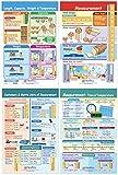 NewPath Learning - 93-2501 Math Bulletin Board Chart Set, Measurement, Set of 4