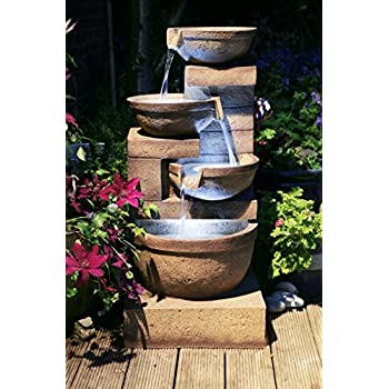 Brunnen und Mehr Kaskadenbrunnen Kendal mit LED-Beleuchtung 85,8cm
