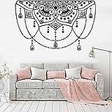 wZUN Media Mandala Pegatina de Pared Estudio de Yoga decoración del hogar Vinilo calcomanía Sala de Estar Dormitorio decoración de cabecera 85X52cm