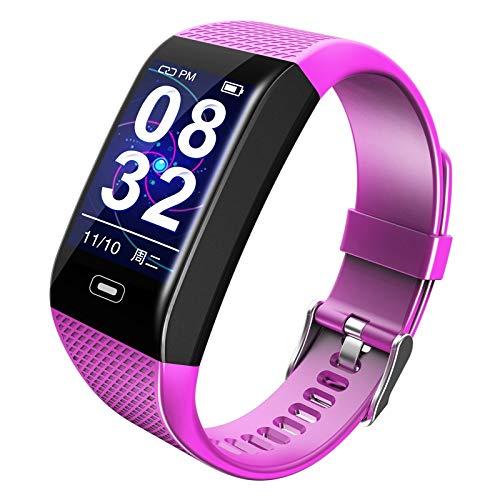 Monitoreo de la presión Arterial de Reloj Inteligente/recordatorio sedentario/recordatorio de Llamadas/monitoreo del sueño, Soporte de Ritmo cardíaco, Adolescente Sassy Watch (Color : Purple)