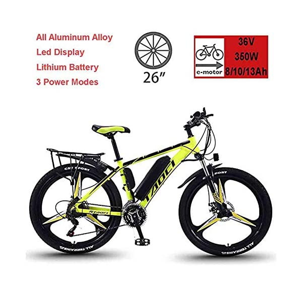 Electric Bikes EggshellHome Electric Bikes for Adult, Mens Mountain Bike, Magnesium Alloy Ebikes Bicycles All Terrain,26″ 36V 350W Removable Lithium-Ion Battery Bicycle Ebike, for Outdoor Cycling Travel Work Out [tag]