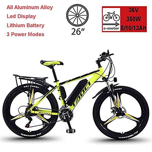 Vélos Électriques Pour Adultes, Hommes VTT, Vélos En Alliage De Magnésium Ebikes Tout Terrain, 26' 36V 350W...