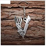 Llavero vikingo con símbolo en V de metal Odin | Thor | Valknut | regalo | hombres |...
