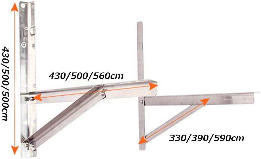 Support de montage mural ext/érieur universel support de climatisation ext/érieure portable pliable en acier inoxydable /épais adapt/é /à lunit/é de condenseur de climatisation split