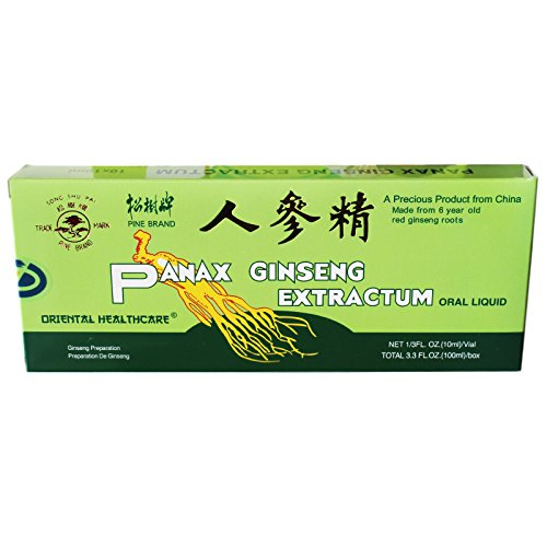 10er Sparpack (100x10ml Ampullen) Panax Ginseng Extrakt mit 0,5% Alkohol