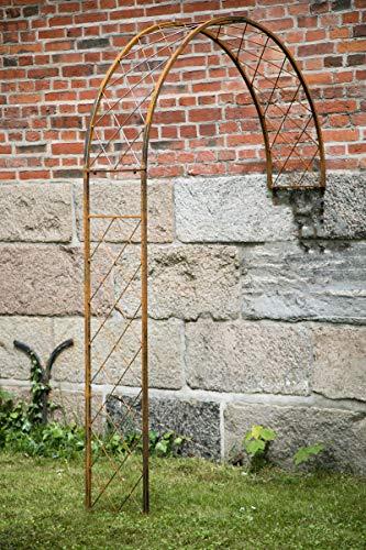KUHEIGA Wandrosenbogen Metall B: 150cm/H:230cm, Rankbogen Rost, Metall-Bogen, Halbbogen
