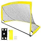 Sportout Portable Soccer Goal, Training Soccer Net for Backyard, Garden, Indoor, Outdoor, Training, Practice Goals(6'3'x 3'7', 1 Pack)