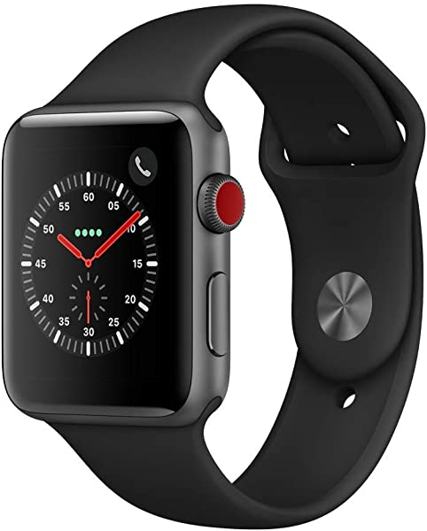 Apple Watch Series 3 GPS Cellular 42mm Space Gray Aluminium Case With Black Sport Band