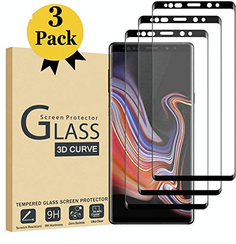 Sibes [3 Pack] for Samsung Galaxy Note 9 Screen Protector, Tempered Glass [Case Friendly][Alignment Frame Easy Installation][3D Curved][Full Coverage]