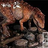 Nanmu Studio 1/35 Yangchuanosaurus Hunting Tuojiangosaurus Scene Statue Realistic Dinosaur Action Figure Resin Model GK Toys Dinosauri Collector Decor Gift for Adult (Red)