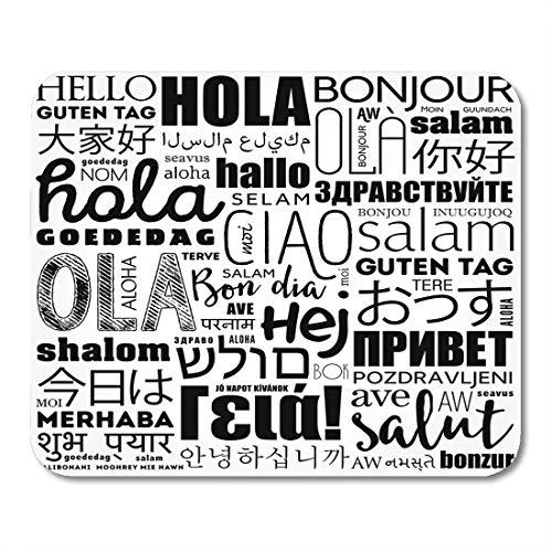 Mauspad Bildung Indisch Hallo Wortwolke in verschiedenen Sprachen der Welt Konzeptvielfalt Deutsches Bürobedarf Mauspad Zoll Zoll Mousepad