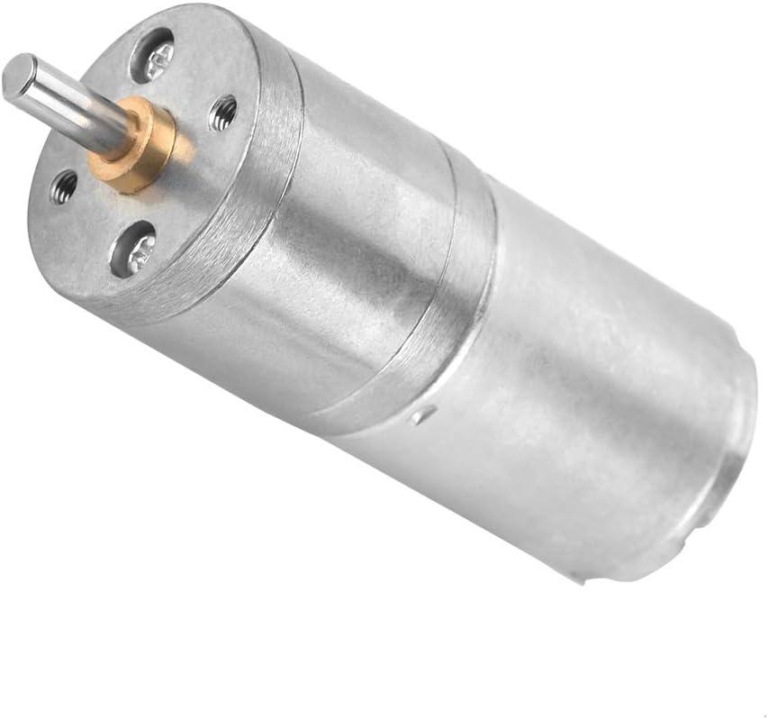 DC 12V motor del engranaje, par eléctrico Micro Reducción de alta velocidad motorreductor de 25GA-370 de salida Centric Eje 25 mm Diámetro de caja de cambios del motor eléctrico(12V 100RPM)
