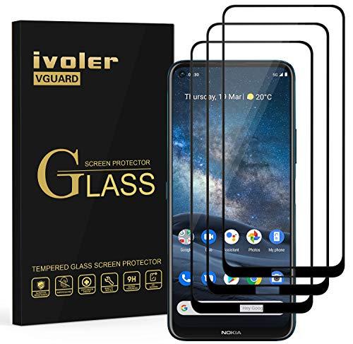 ivoler 3 Stücke Panzerglas Schutzfolie für Nokia 8.3 5G, [Volle Bedeckung] Panzerglasfolie Folie Hartglas Gehärtetem Glas BildschirmPanzerglas für Nokia 8.3 5G