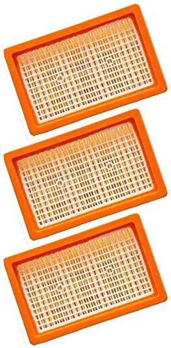 3 filtri a pieghe piatte per aspirapolvere Kärcher multifunzione e aspirapolvere a umido/a secco MV4 + MV5 + MV6 + WD4 + WD5 + WD6 come 2.863-005.0 WD 4-6 e MV 4-6