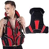 COOFIT Angelweste Multi-Taschen Tragbare Schwimmweste Bootsweste mit Handytasche