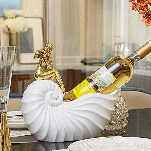 BXU-BG Ornaments Home Accessories Modern Minimalista Creative Wine Rack Wine Cooler Decoraciones Sala de estar TV Gabinete de mesa 28 * 15 * 26 cm Delicado hermoso