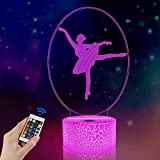 Ballerina Night Light with Remote Control 16 Color Changing, Best Ballet Dancing Gifts, Gifts for Mom, Birthday , Wedding, Grandmother Gifts, Valentines Gift, Graduation Gifts, Friendship Gifts