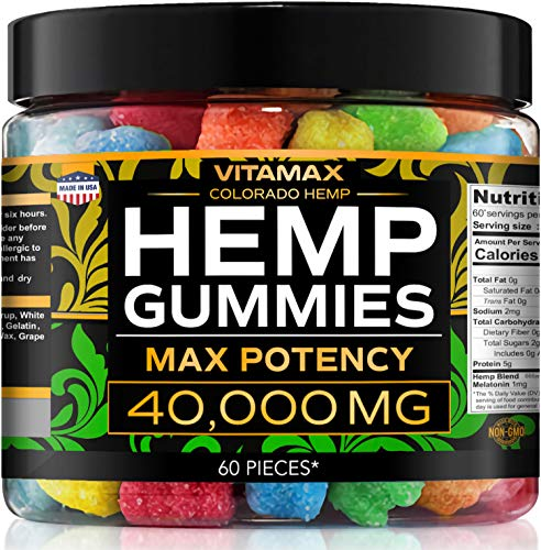Gummies for Stress Relief - 40000mg - Sour Gummies - Great for Sleep, Insomnia & Anxiety Management – Made in USA – Tasty & Relaxing Gummies – Premium Blend - Mood & Immune Support