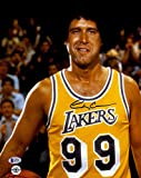 Chevy Chase Autographed 11'x 14' Fletch Lakers Jersey Photograph - BAS COA - Beckett Authentication - Movie Photos