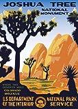 American Vinyl Joshua Tree Poster Art Bumper Sticker (rv National Park Hike ca)