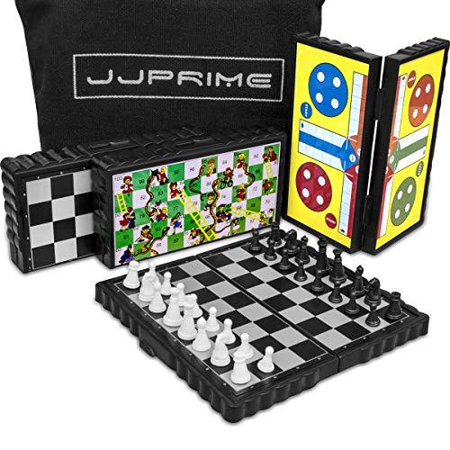 JJPRIME - 4 juegos de mesa de viajes clásicos, divertidos y divertidos...