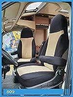 BREMER SITZBEZÜGE Coprisedili compatibili con camper e conducenti e passeggeri, colore nero beige, 809