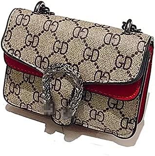 Guga-purse Cross-Body Bag for Little Girls Handbag Designer Fashion Single Shoulder Messager Kids Purses (Red)