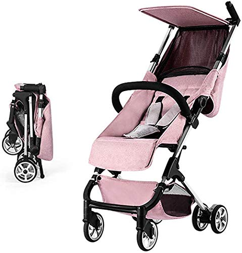 LMEILI Lightweight Stroller, Compact Folding Stroller Children- Includes Travel Bag - Fits Airplane Overhead Storage