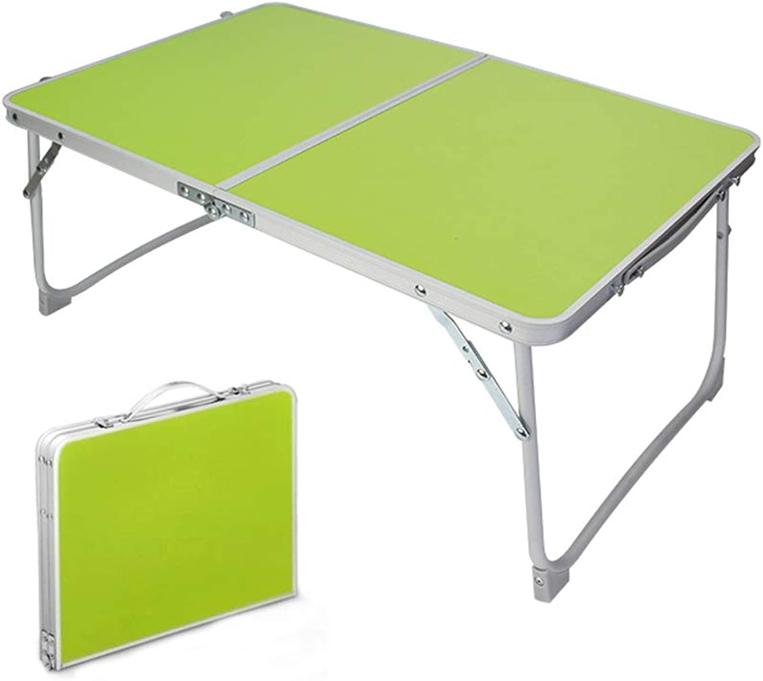 Lyqqqq Table Folding Computer Laptop Desk with Mouse Platform Portable Folding Camping Picnic (color   Green)