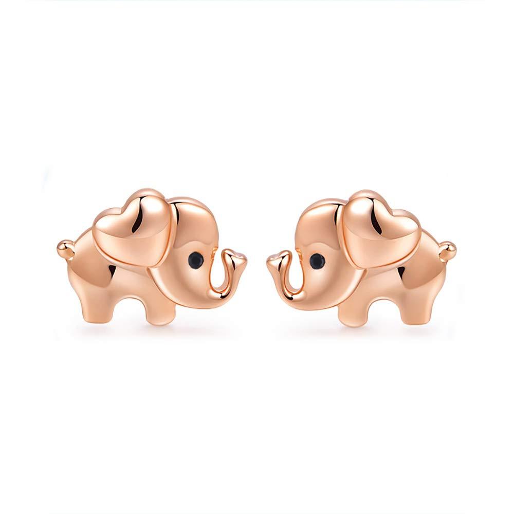 Elephant Earrings Elephant Gift Sterling Silver Elephant Stud Earrings